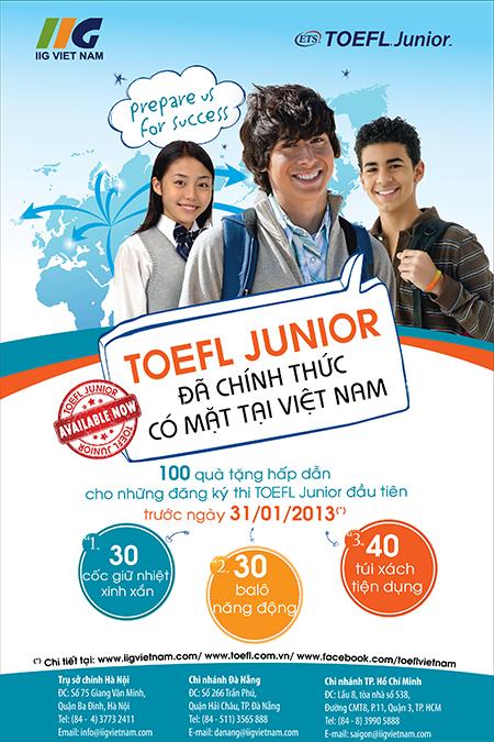 TOEFL JUNIOR chính thức ra mắt tại Việt Nam - IIG Việt Nam