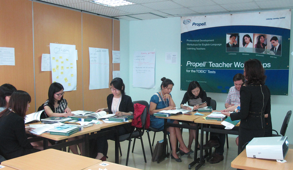 Một tiết học của Propell Workshop for the TOEIC test