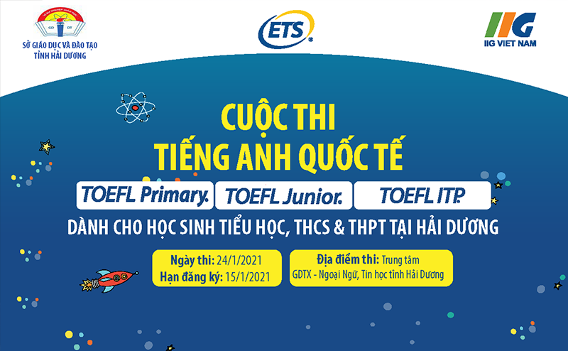 Launching the international English contest – TOEFL in Hai Duong for the academic year 2020-2021