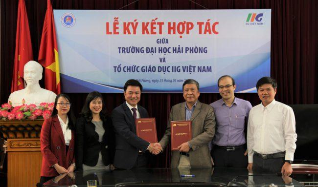 Trường Đại học Hải Phòng và IIG Việt Nam hợp tác nâng cao chất lượng đào tạo tiếng Anh và Công nghệ thông tin theo chuẩn quốc tế