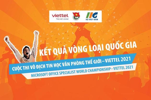 Thông báo danh sách thí sinh vào Vòng Chung kết quốc gia Cuộc thi Vô địch Tin học văn phòng thế giới – Viettel 2021